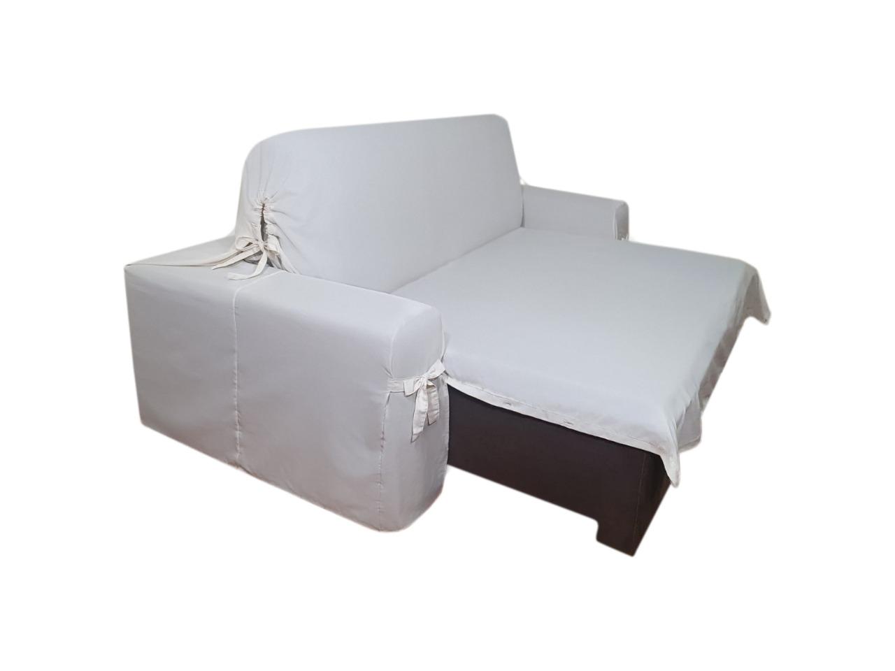 Capa p/ Sofá Retrátil e Reclinável em Acquablock Impermeável CRU - Veste Sofás de 2,66m até 2,95m