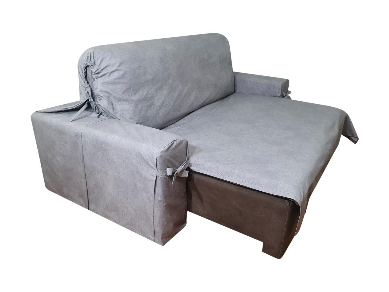 Capa p/ Sofá Retrátil e Reclinável em Acquablock Impermeável GRAFITE - Veste Sofás de 2,66m até 2,95m