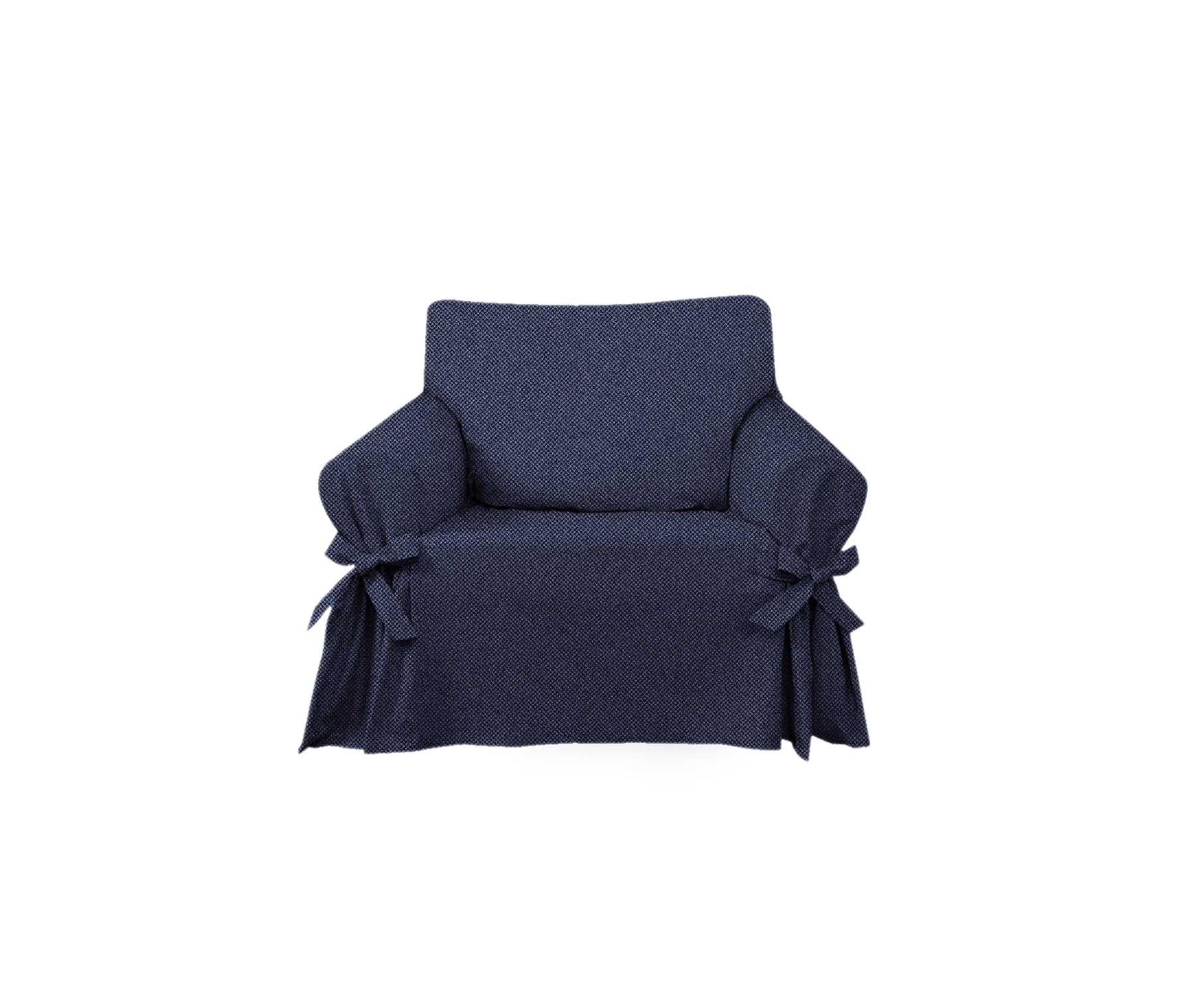 Capa para Sofá de 1 Lugar em Jeans Marinho