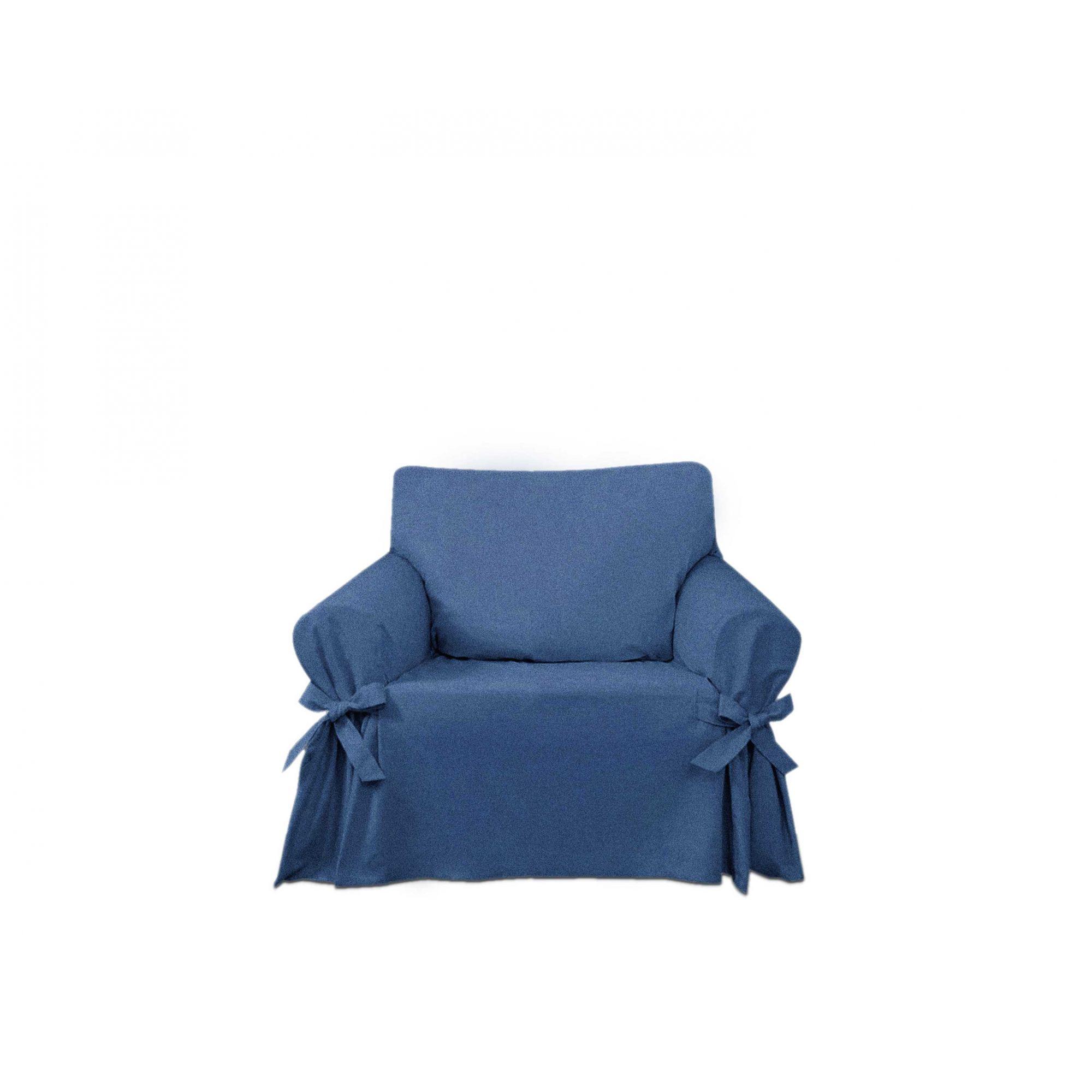Capa para Sofá de 1 Lugar em Jeans Claro