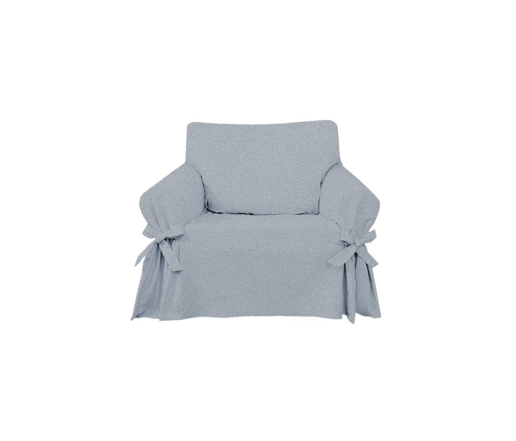 Capa para Sofá de 1 Lugar em Jeans Claro Ecológico
