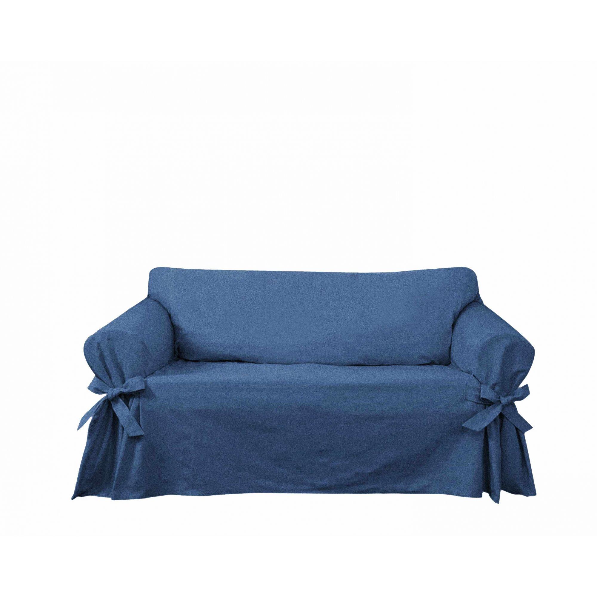 Capa para Sofá de 2 Lugares em Jeans Claro