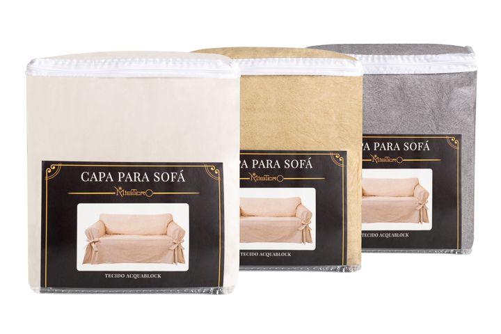 Capa para sofá de 3 lugares em Acquablock Impermeável
