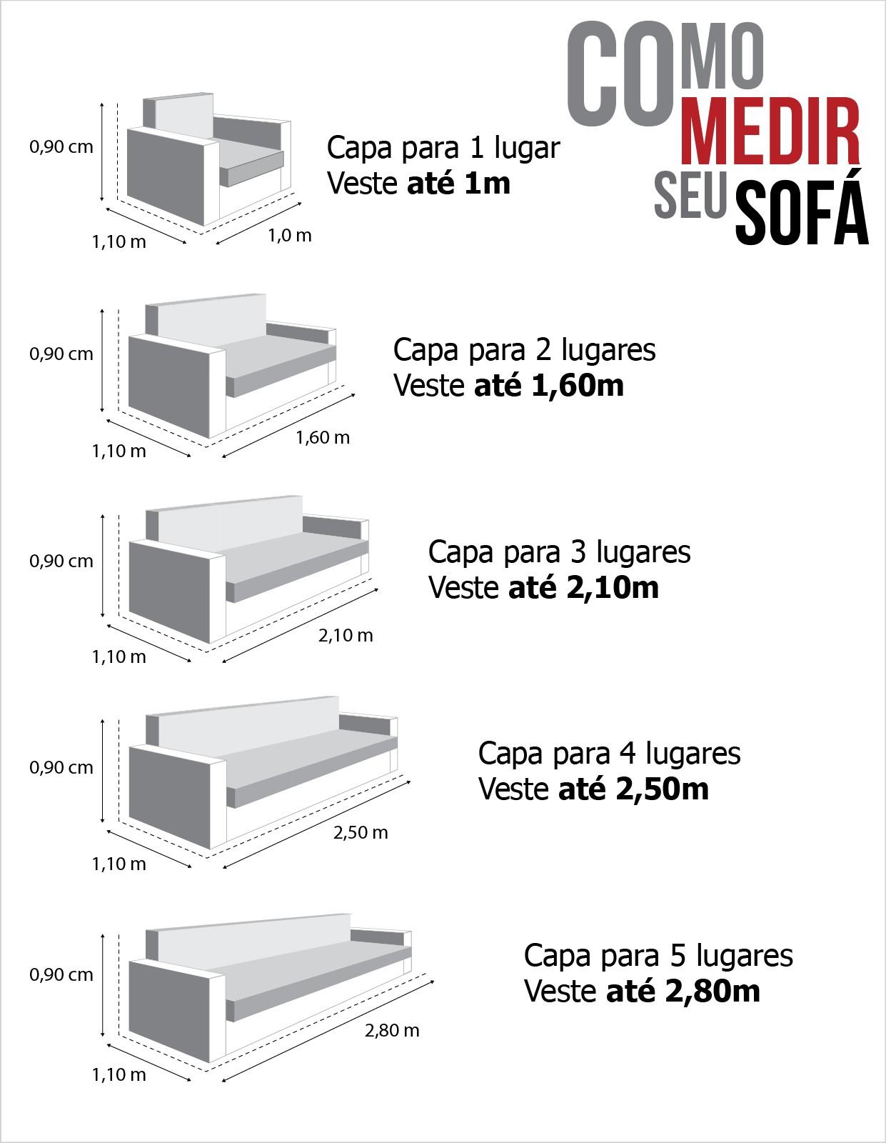Capa para Sofá de 4 Lugares em Brim Sarja 100% Algodão