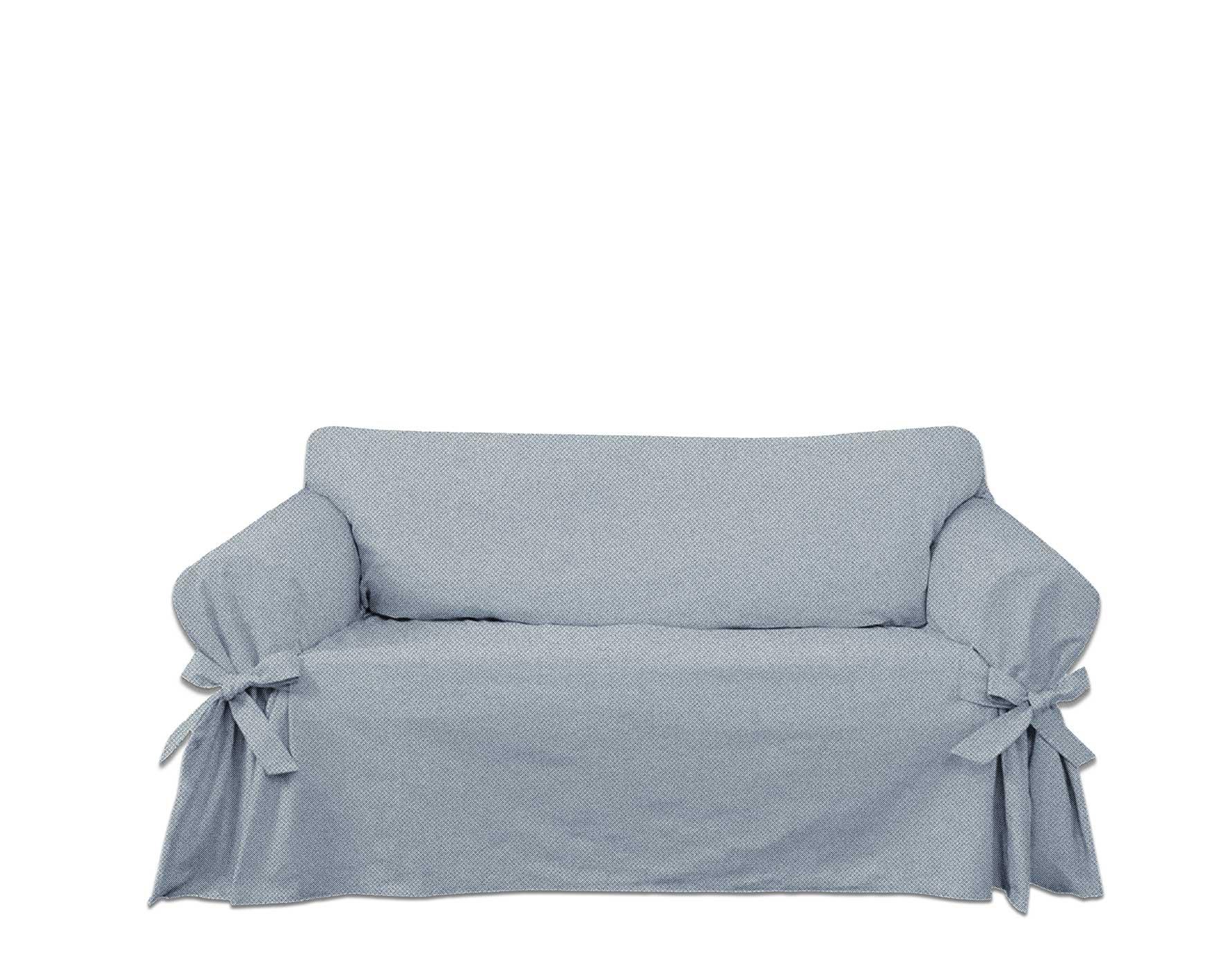 Capa para Sofá de 5 Lugares em Jeans Claro Ecológico