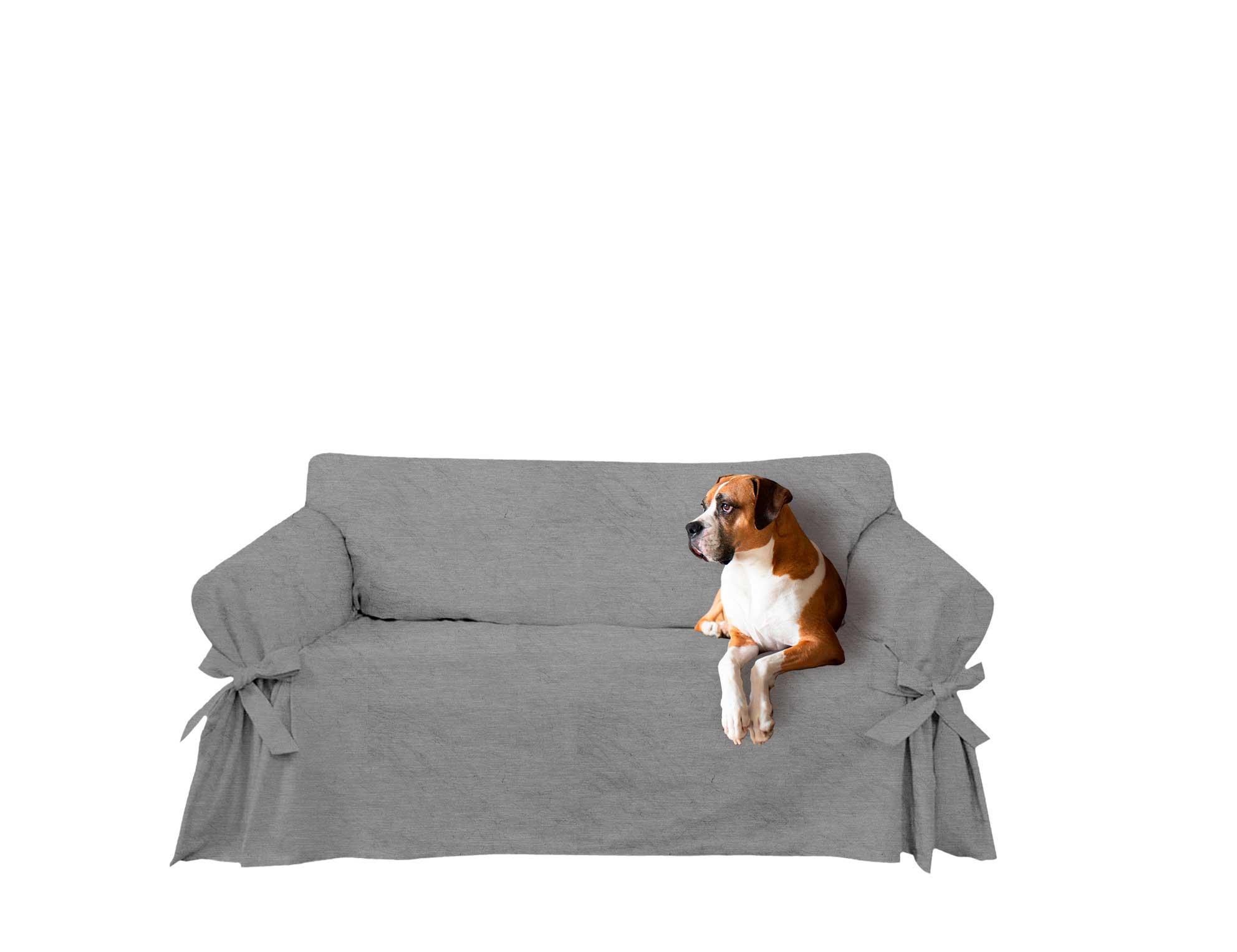 Capa para sofá de 6 lugares em Acquablock Impermeável Cor Cinza Grafite