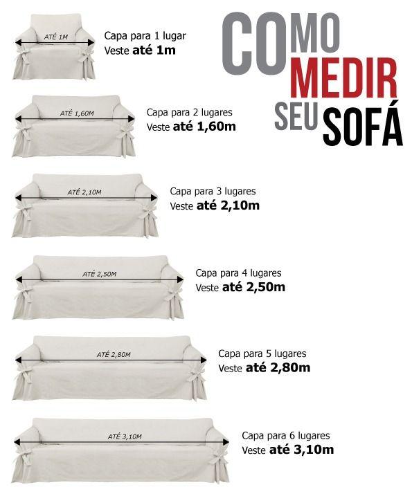 Kit 2 Capas p/ Sofá 3 e 4 lugs MARINHO em Gorgurão