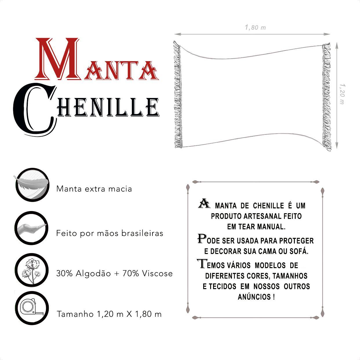 Manta de Chenille (1,20m x 1,80m)