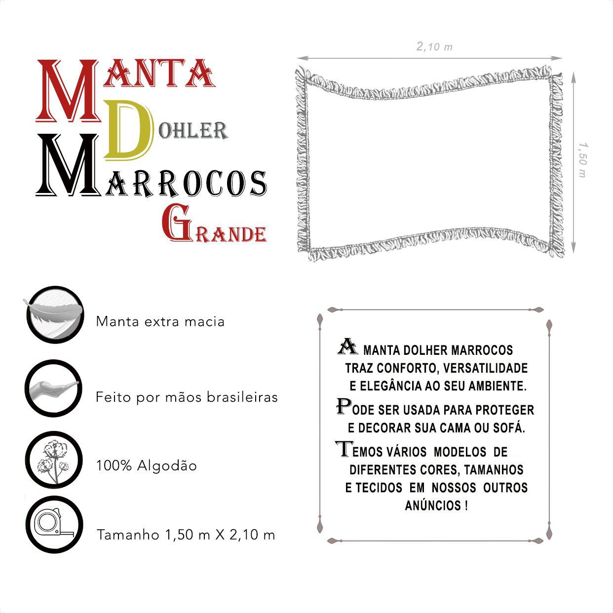 Manta Dohler Marrocos Grande (1,50m x 2,10m)