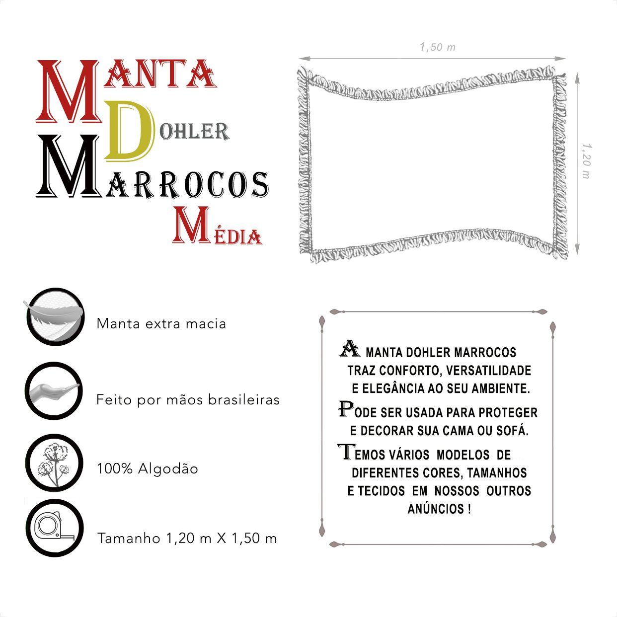Manta Dohler Marrocos Média (1,20m x 1,50m)