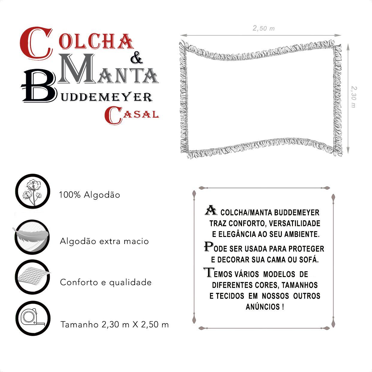 Manta e Colcha Buddemeyer Casal (2,30m x 2,50m)