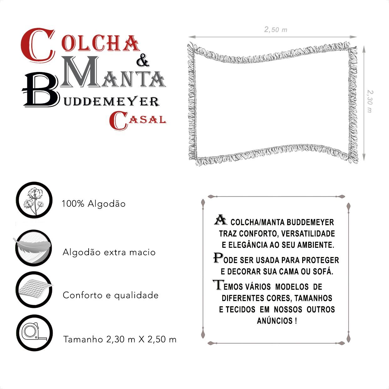 Manta e Colcha Buddemeyer Casal Cinza Claro 2,30m x 2,50m