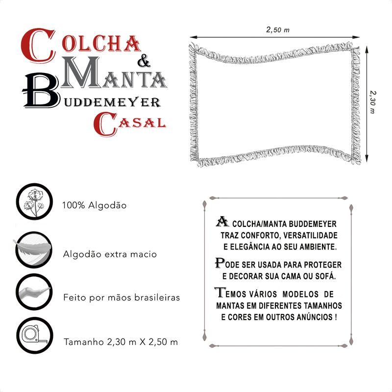 Manta e Colcha Buddemeyer Casal Preta 2,30m x 2,50m