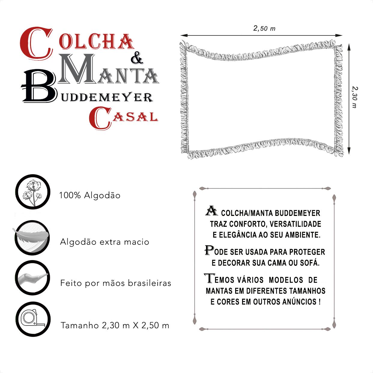Manta e Colcha Buddemeyer Casal Telha 2,30m x 2,50m