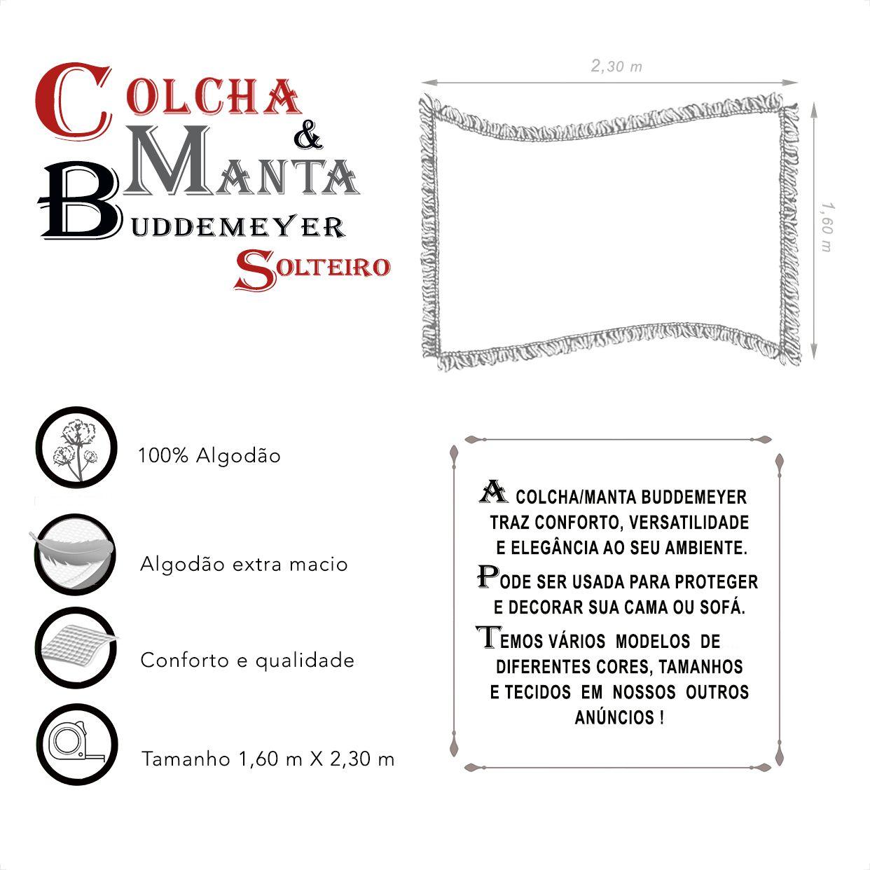 Manta e Colcha Buddemeyer Solteiro (1,60m x 2,30m)