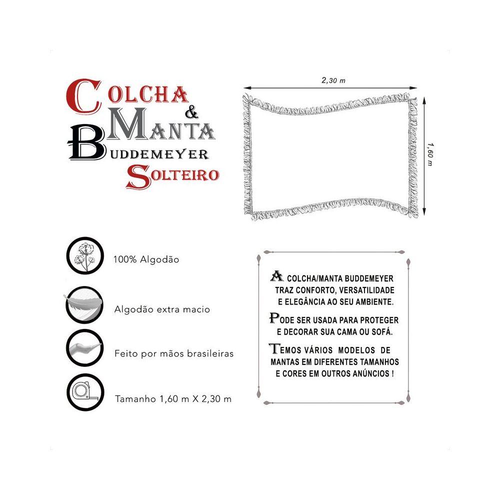 Manta e Colcha Buddemeyer Solteiro Preto 1,60m x 2,30m