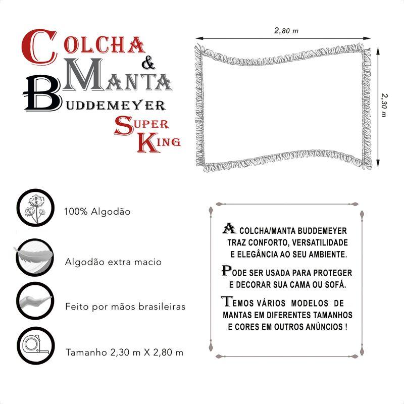 Manta e Colcha Buddemeyer Super King Preta 2,30m x 2,80m