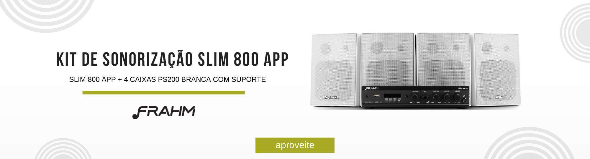 oferta kit de sonorização slim 800 app frahm - 31872