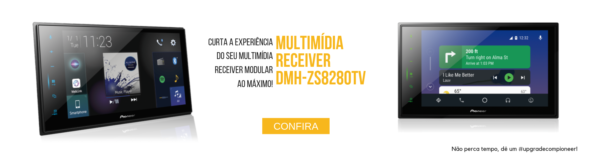 central multimídia receiver pioneer dmh-zs8280tv 2din 8
