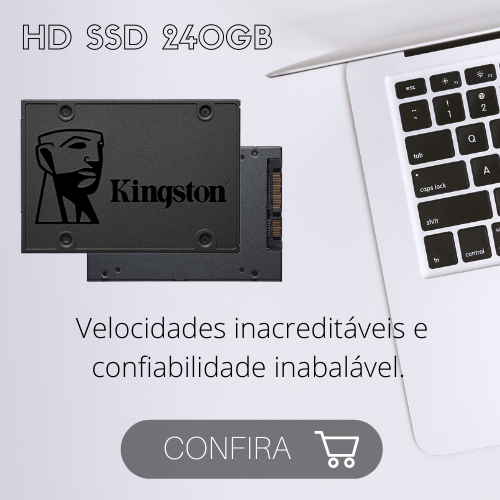 HD SSD 240GB 2.5 Sata3 Kingston A400 - SA400S37/240G