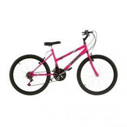 Bicicleta Aro 24 18 Marchas Ultra Bikes Feminina Rosa BMF24-01RS