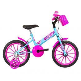 Bicicleta Infantil Aro 16 Ultra Kids T Azul Bebe/Rosa