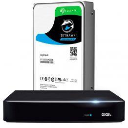 DVR 8 Canais Híbrido Giga Security 1080P Série Orion OPEN HD Saída BNC + HD Seagate 1TB - GS0185