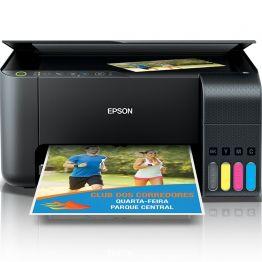 Impressora Multifuncional EPSON ECOTANK L3150 WI-FI C11CG86302 Preto Bivolt