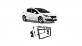 Moldura 2 Din Peugeot 308 408 Cinza 2012 até 2019 CH JP Cinza EPX132