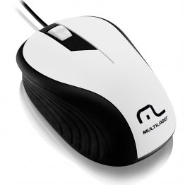 Mouse USB (embor) 1200dpi MO224 branco/preto - Multilaser