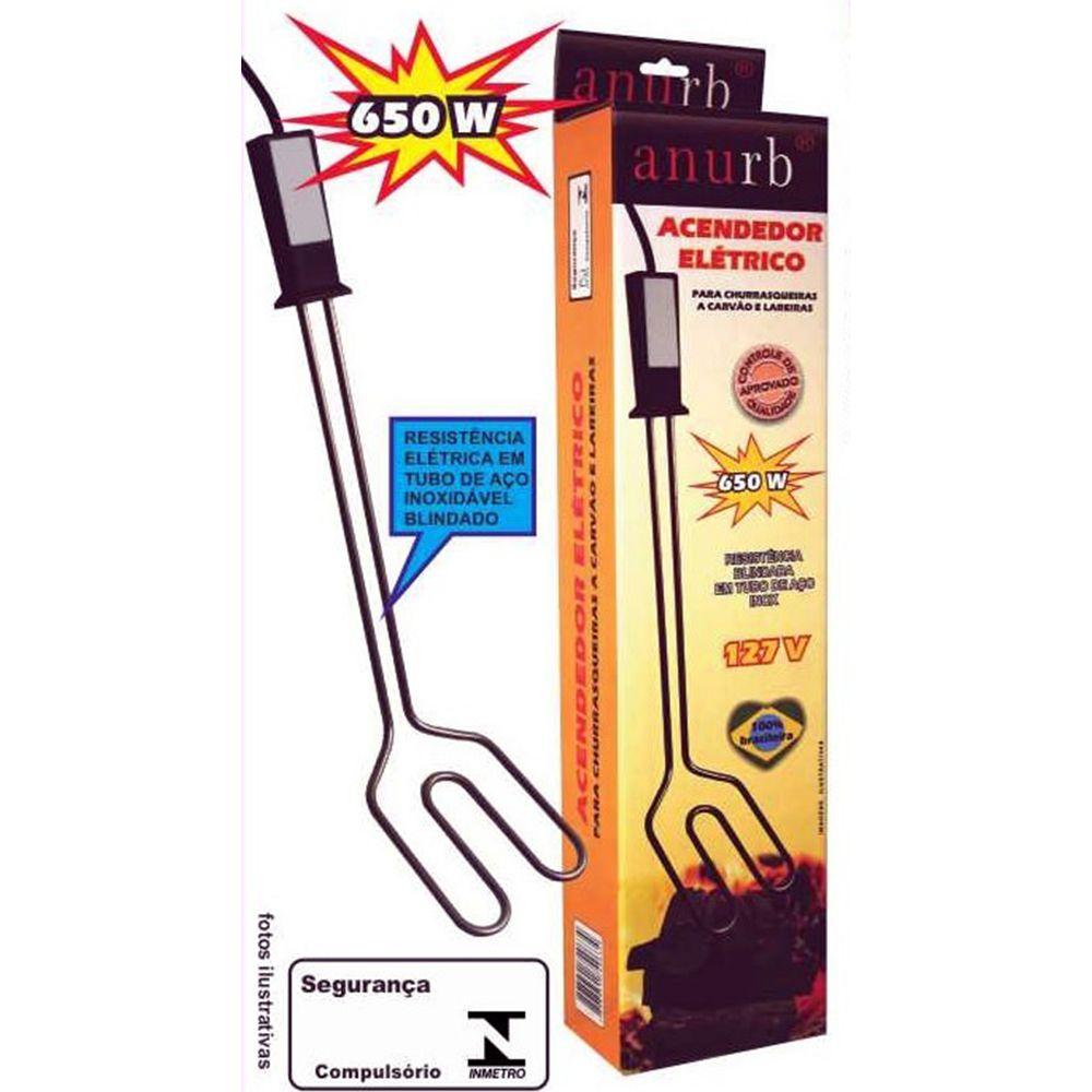 Acendedor Elétrico Para Churrasqueira 650w - 127v Anurb