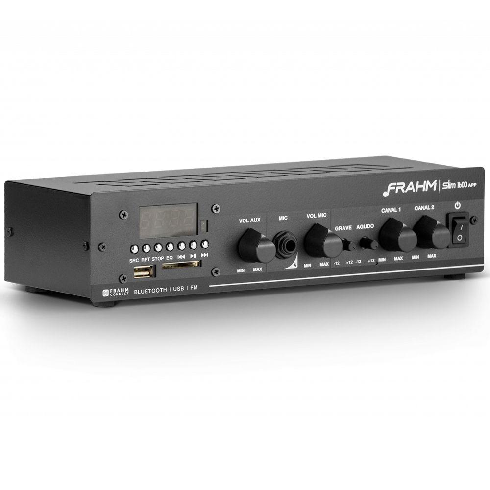 Amplificador de Som Ambiente Frahm Receiver Slim 1600 APP
