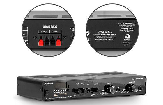 Amplificador de Som Ambiente Frahm Reciever Slim 2500 APP G2 31847