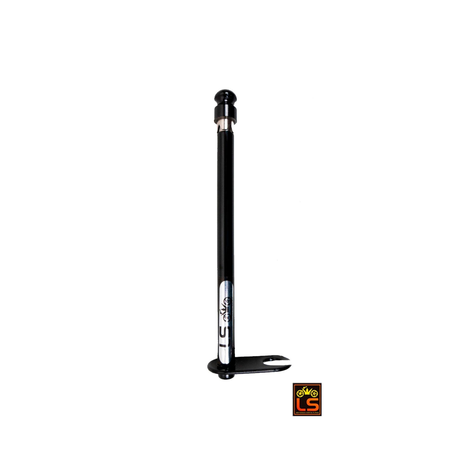 Antena Corta Pipa Moto 6 Estágios Retrovisor Preto Aço Inox LS LS600PT