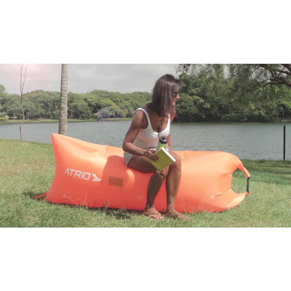 Assento Inflável Atrio Chill Bag Laranja ES140