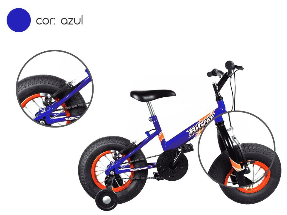 Bicicleta Infantil Ultra Bikes Big Fat Azul