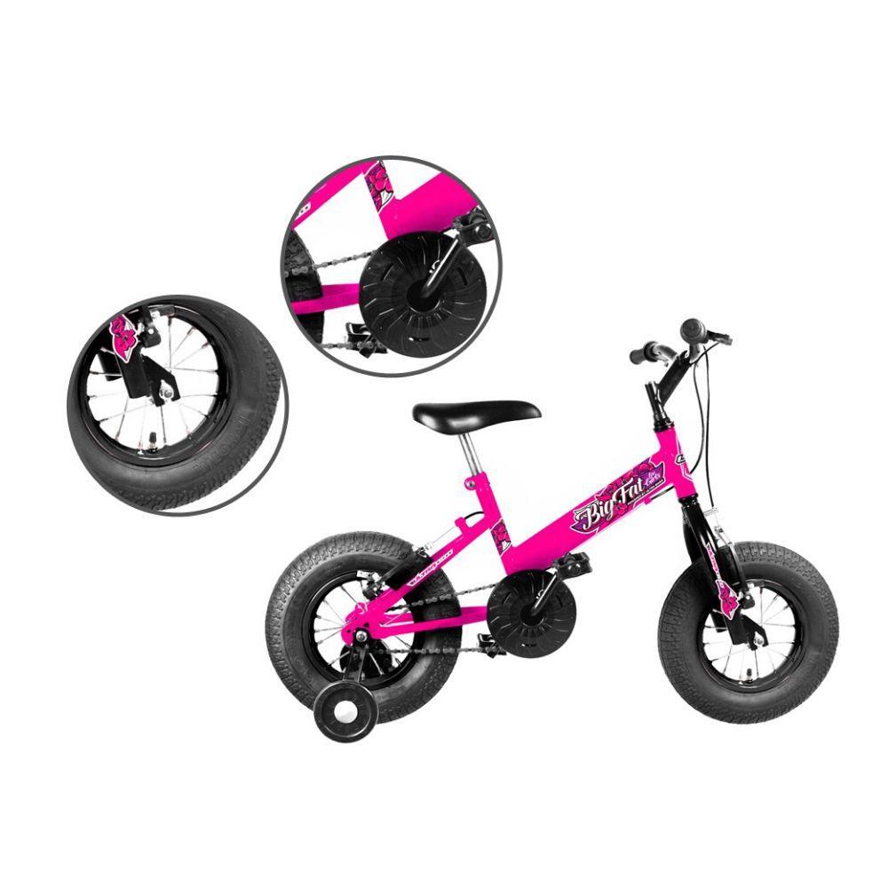 Bicicleta Infantil Ultra Bikes Big Fat Com Rodinhas Aro 16 Rosa BBF16-01RS