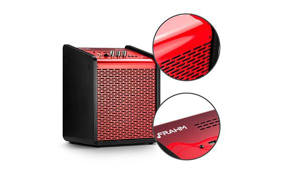 Caixa de Som Amplificada Frahm Chroma Battery Red 100 WRMS USB Bluetooth - Vermelha