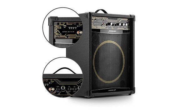 Caixa de Som Amplificada Multiuso USB800-APP 500 WRMS Bluetooth