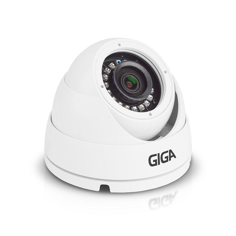 Câmera de segurança Dome Metálica 720p HD GIGA Série Orion Infravermelho 30m - GS0021
