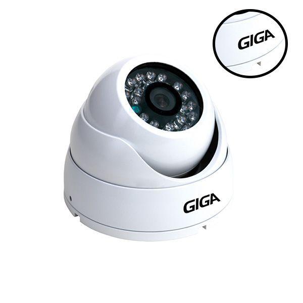 Câmera de segurança Dome Metálica 720p Open HD Plus GIGA Infravermelho 30m - GS0015