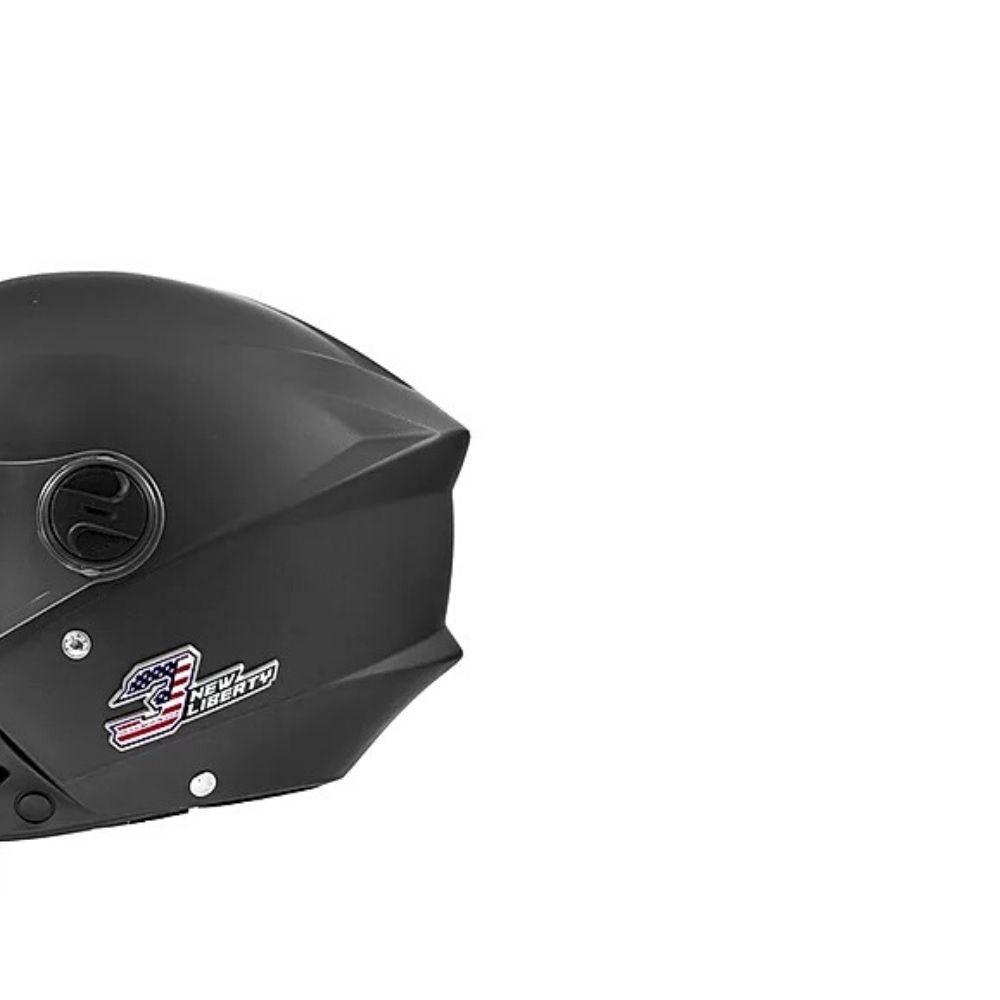 Capacete New Liberty Three Elite Tam.58 Pro Tork Preto Fosco - CAP-708MB