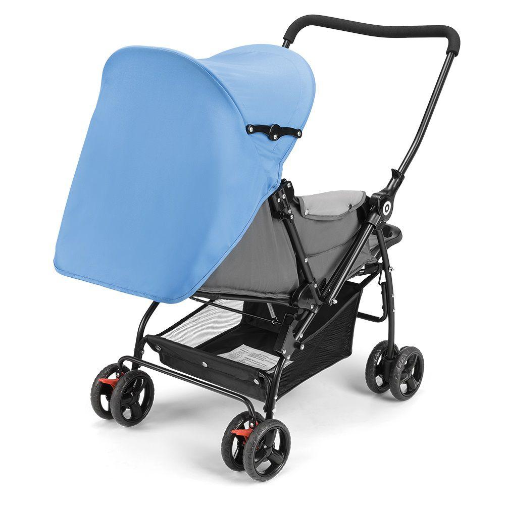 Carrinho de bebê Berço com Bandeja Nap Weego Azul - 4012