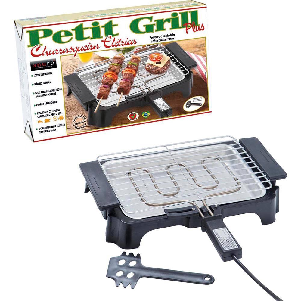 Churrasqueira Elétrica Anurb Petit Grill Plus 220V Preto