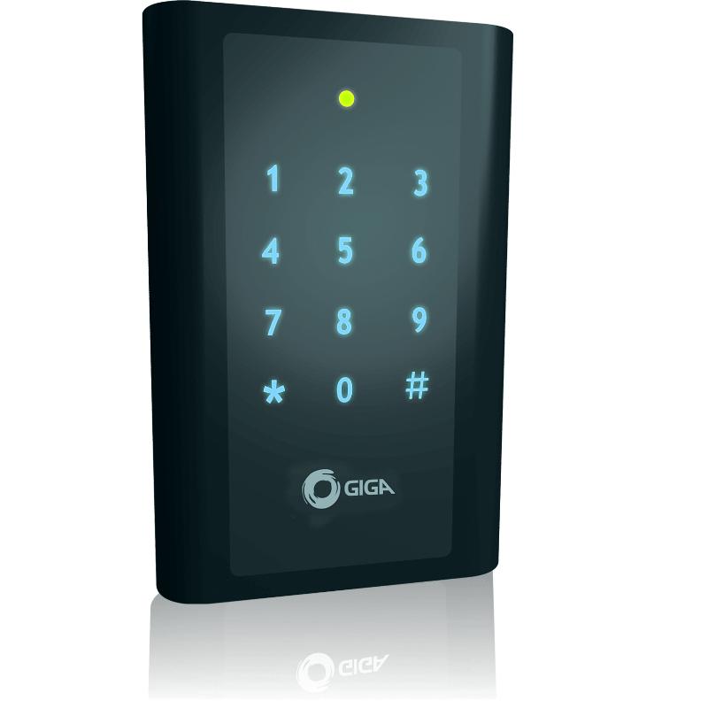 Controle de acesso GIGA por cartão de proximidade e senha - GSPROXCT