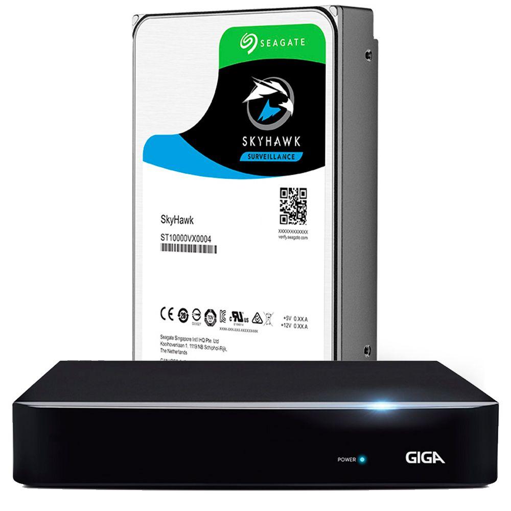 DVR 16 Canais Híbrido 1080P GIGA Série Orion Open HD Saída BNC + HD Seagate 2TB - GS0187