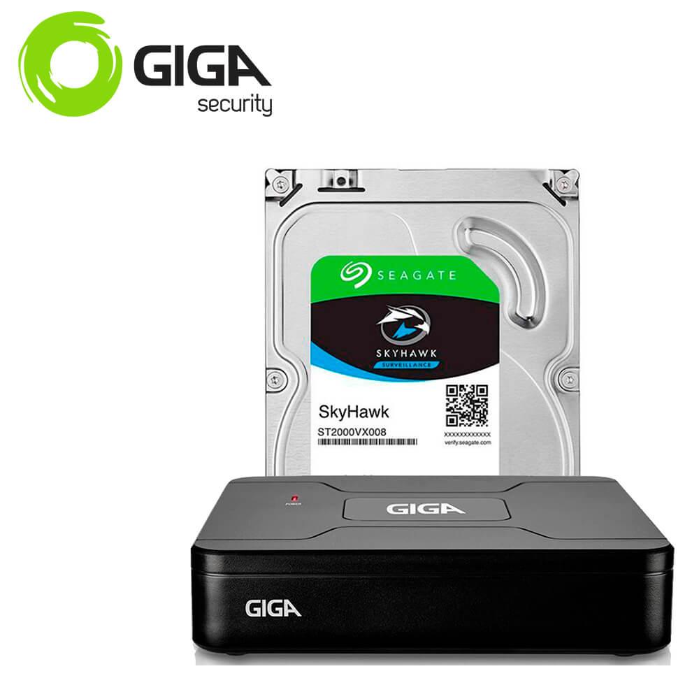 DVR 4 canais Giga Security Open HD Lite 720P + HD de 1TB - GS0084