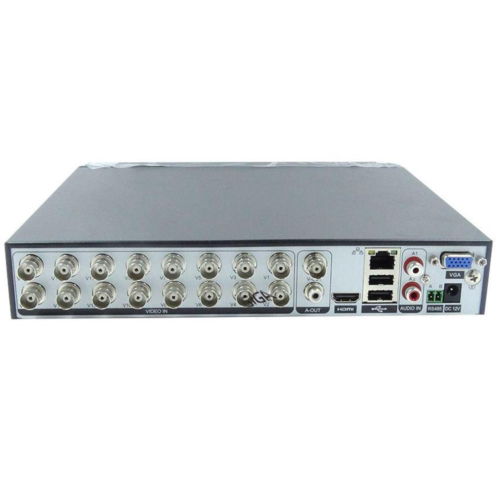 DVR 4 Canais Híbrido Giga Security 1080P Série Orion Open HD Saída BNC + HD Seagate 1TB - GS0184