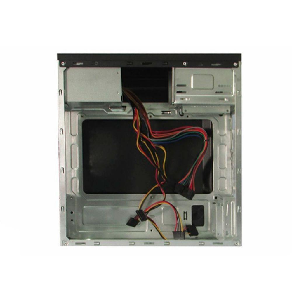 Gabinete 1 baia + Fonte 200W  K-Mex Micro-ATX Preto - GM-02T9