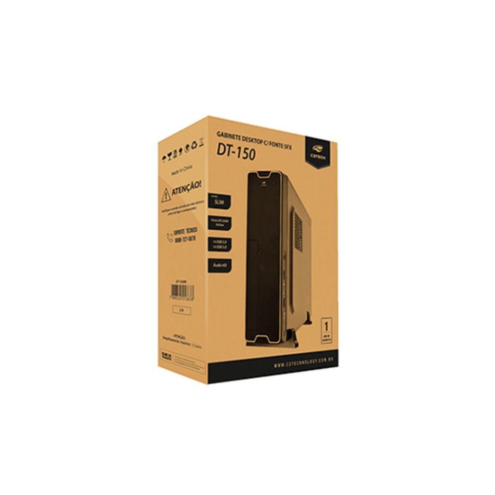 Gabinete Slim + Fonte 200W SFX Preto Mini-ATX - C3Tech DT-150BK